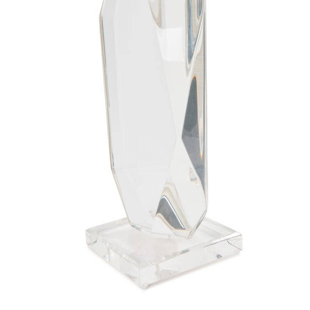 1950s 1950's 'Lozenge' Lucite Table Lamp For Sale - Image 5 of 6