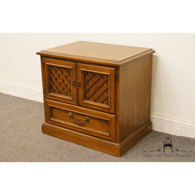 "Drexel Drexel Esperanto Collection Spanish Mediterranean 26"" Cabinet Nightstand 401-620 For Sale - Image 4 of 13"