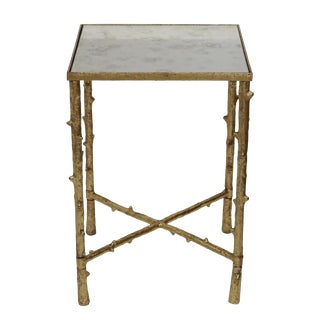 Glostrup Antique Mirror Top Square Side Table