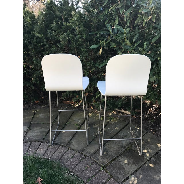 Cappellini Tate White Bar Stools - A Pair - Image 4 of 4