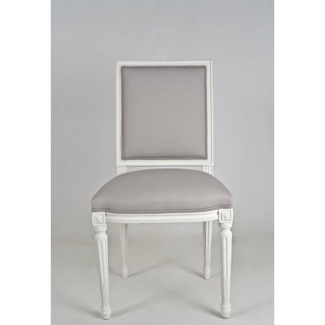 Louis XVI-Style Dining Chairs - Set of 8 - Image 4 of 8