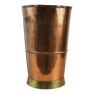 Vintage Handcrafted Copper & Brass Drinking Glass For Sale