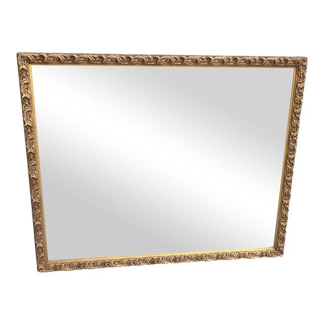 3eb35cfdddc6 Attractive Antique Gilded Galax Mirror | Chairish