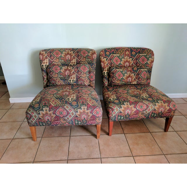 Drexel Heritage Vintage Slipper Chairs - A Pair - Image 2 of 5