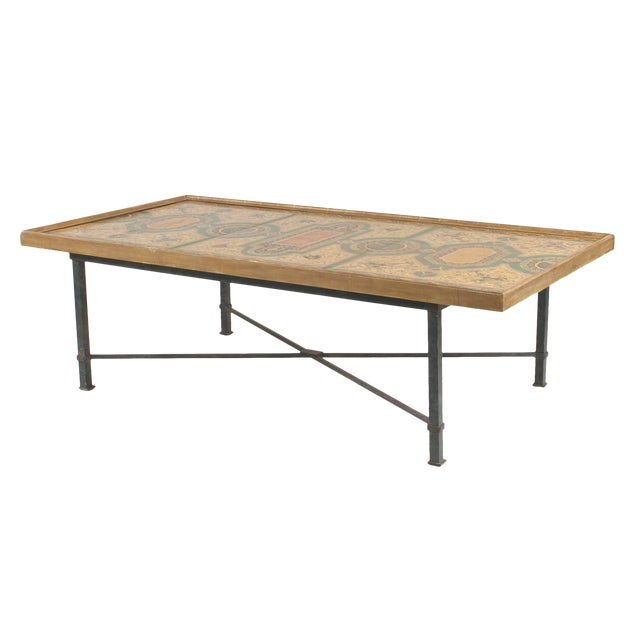 Italian Roman Neoclassic Coffee Table For Sale