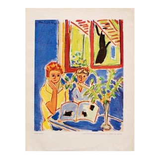 "1948 Matisse ""Two Girls, Red Window in Blue Interior"", Original Period French Lithograph For Sale"