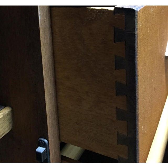 Harris Lebus Vintage Art Deco Tiger Oak Sideboard For Sale In Charlotte - Image 6 of 11