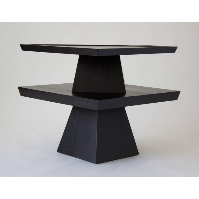 Brutalist Two-Tiered End Table - Image 6 of 11