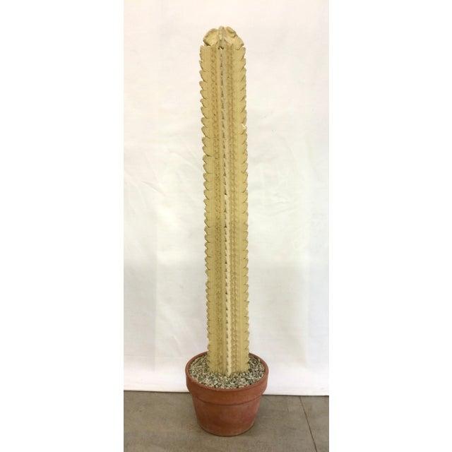 Mid-Century Concrete Cactus Sculpture - Image 3 of 6