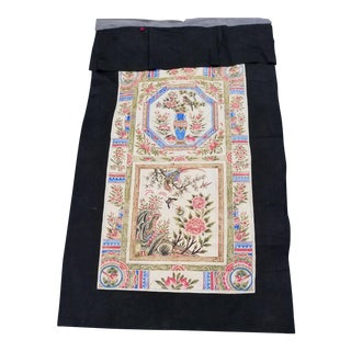 Hand Painted Chinoiseri Drapery Panel For Sale