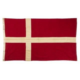 Vintage Denmark Cotton Flag For Sale