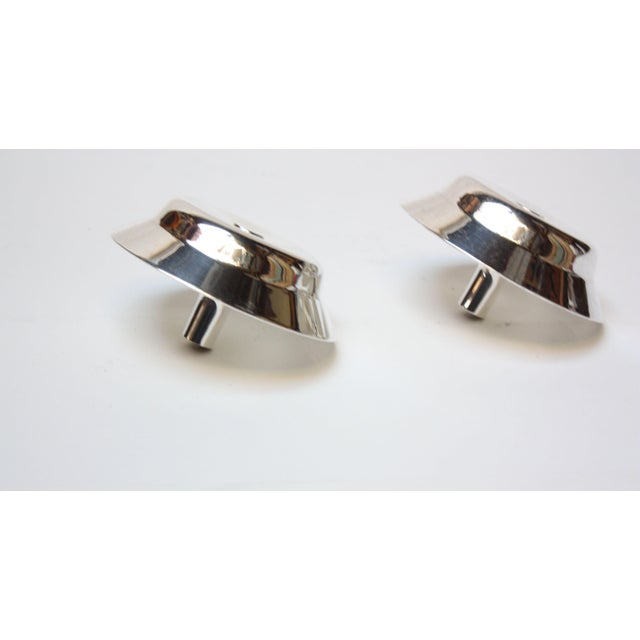 Jens Quistgaard for Dansk Silver-Plated Candle Holders - A Pair For Sale - Image 5 of 7