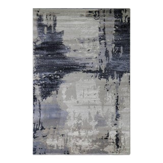 Abstract Brown Area Rug - 6'8'' x 9'8''