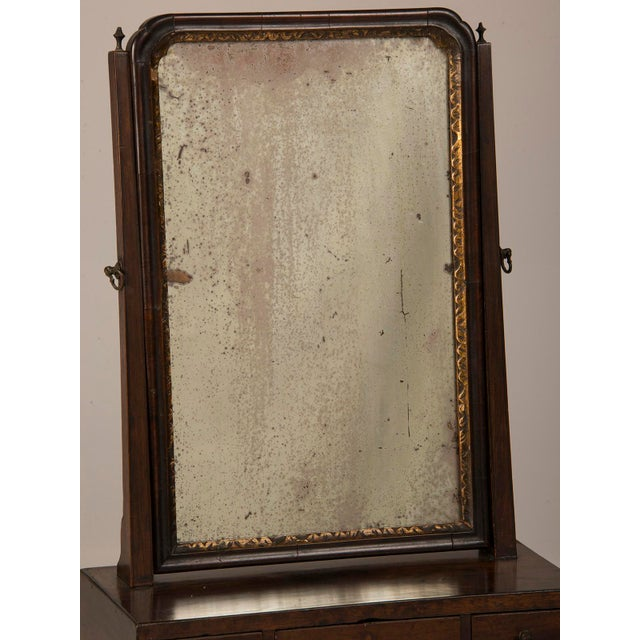 Gold 18th Century George III Period Mahogany Dressing Mirror For Sale - Image 8 of 8