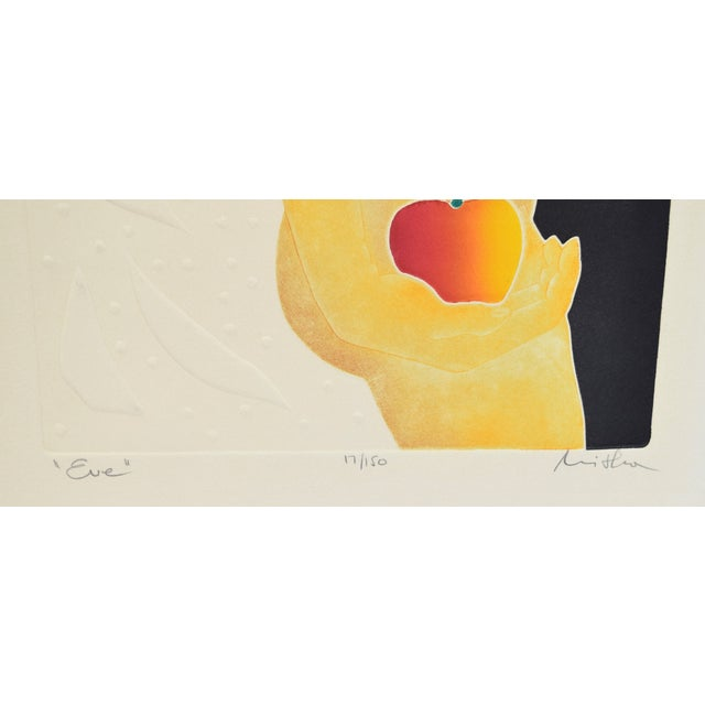 """Black 1970's Mod Limited Edition Lithographs """"Adam"""" & """"Eve"""" Nudes - a Pair For Sale - Image 8 of 13"""