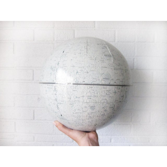 Plastic Vintage Replogle Mid-Century Lunar Moon Globe For Sale - Image 7 of 10