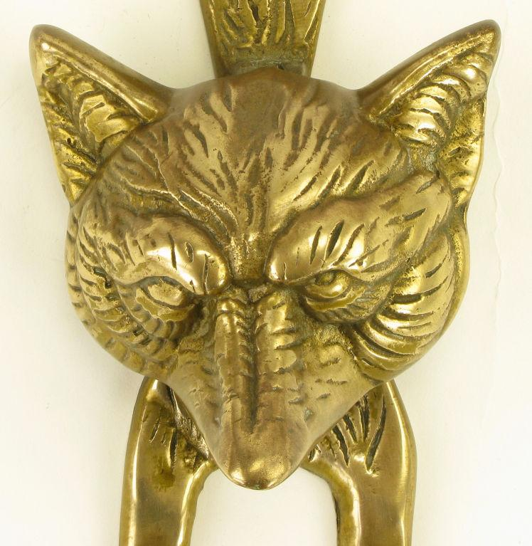 Solid Cast Brass Fox Door Knocker For Sale In Chicago   Image 6 Of 6