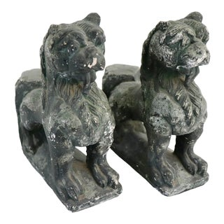 Vintage Foo Dog Bookends - a Pair For Sale