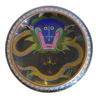Cloisonné 5 Toed Dragon Bowl For Sale