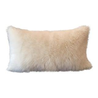 Antique Indigo Linen & Faux Fur Pillow