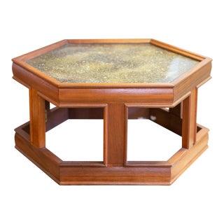John Keal for Brown Saltman Hexagon Side Table For Sale