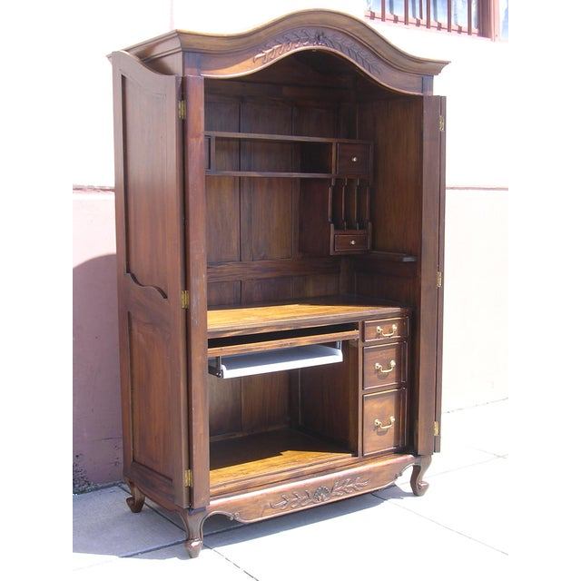 Victorian Antique Style Armoire With Hidden Desk - Image 3 of 10