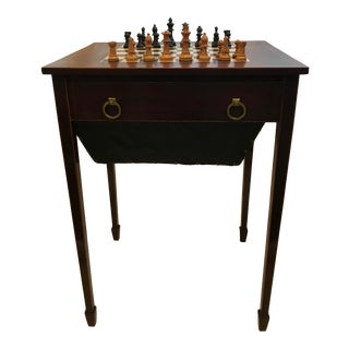 19th Century Chess Game Table For Sale