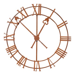Napa Iron Clock Face For Sale