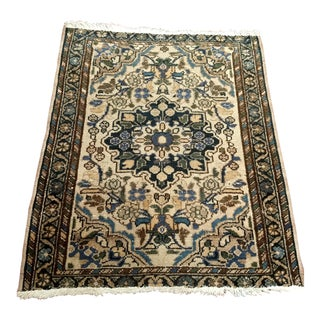 1930s Vintage Persian Malayer Rug - 2′2″ × 2′7″ For Sale