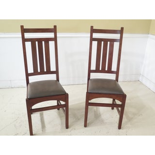 1990s Vintage Stickley Mission Cherry Dining Room Chairs- Set of 4 Preview