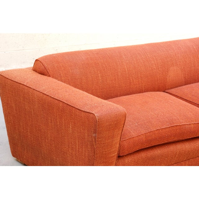 Paul Frankl Pauk Frankl Art Deco Club Sofa, Original 1940s For Sale - Image 4 of 8