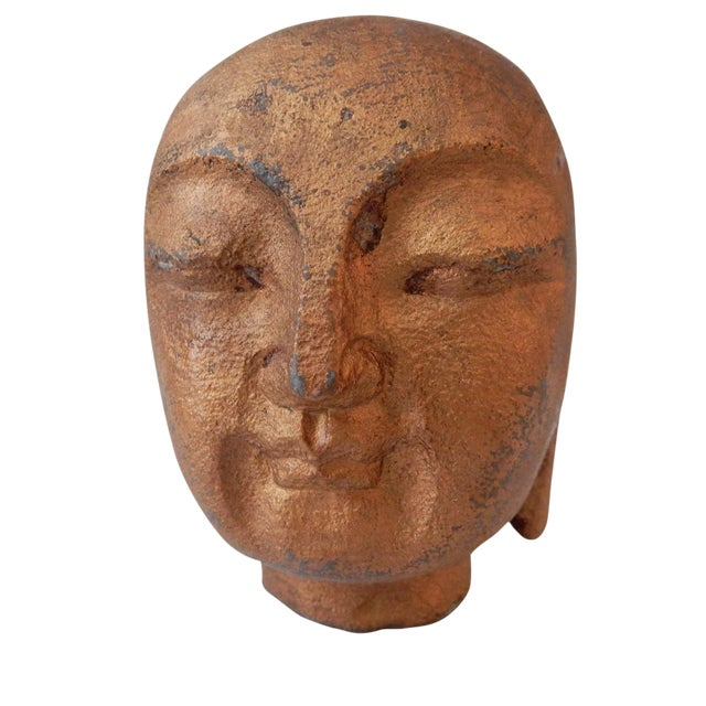 Gilt Stone Buddha Head - Image 1 of 5