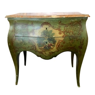 1920s Vintage Hand Painted Italian Bombay Chest For Sale