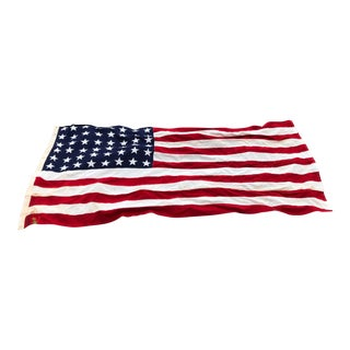 Antique Americana Modern Farmhouse Coastal Decor Man Cave 48 Star American Flag For Sale