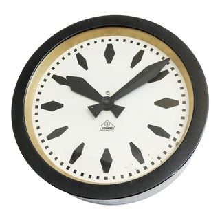 Bauhaus Siemens Industrial, Station or Factory Wall Clock For Sale