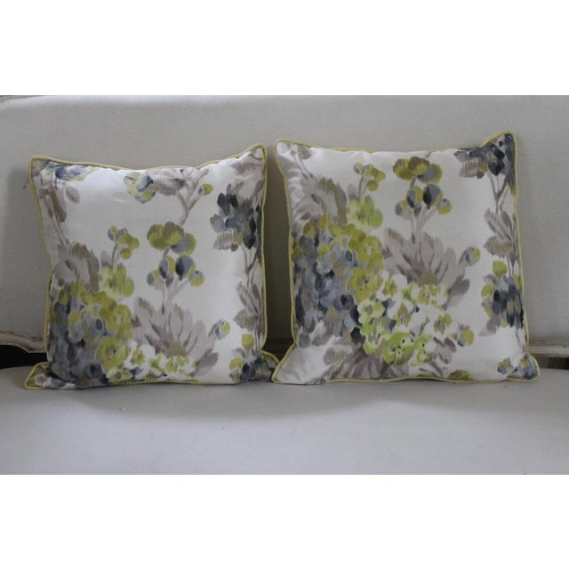 White Designers Guild Rosmond Pattered Pillows - a Pair For Sale - Image 8 of 8
