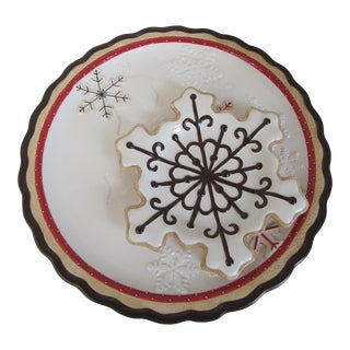 Snowflake Cookie Plates - A Pair For Sale