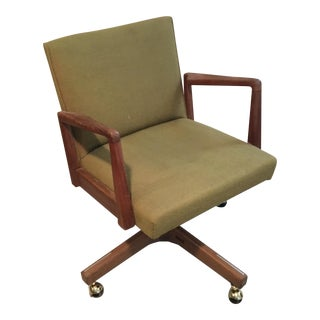 1960s Vintage Jens Risom Swivel Office Chair For Sale