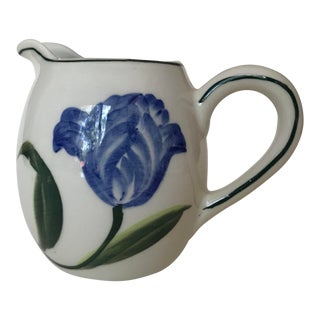 Delft Hand Painted Tulip Creamer For Sale