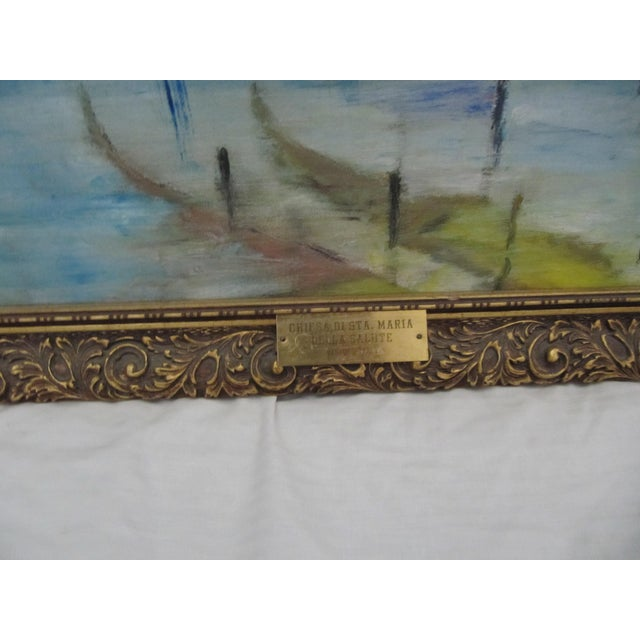 Framed Vintage Painting of Venice For Sale - Image 6 of 8