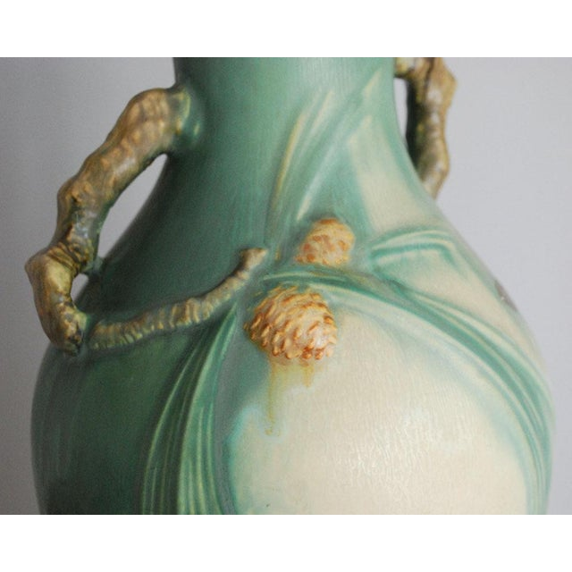 1930s Arts and Crafts Roseville Pottery Green Pinecone Floor Vase For Sale In Saint Louis - Image 6 of 10