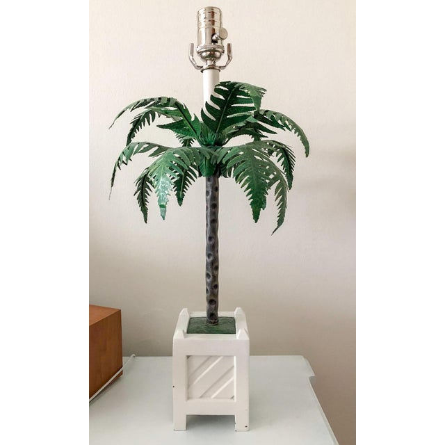 Chippendale Maison Bagues Tole Lamps, Pair For Sale - Image 3 of 7