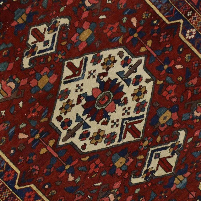 Antique Bakhtiari Persian Rug with Traditional Modern Style For Sale - Image 5 of 8
