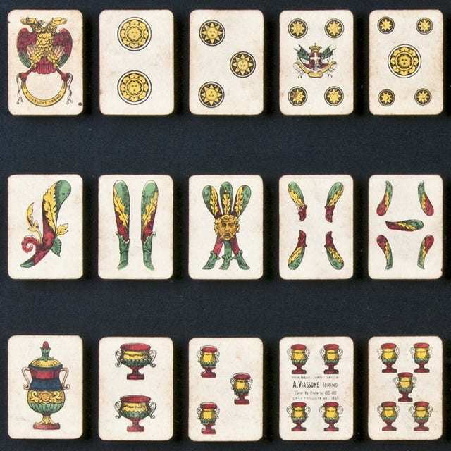 40 Framed A. Viassone Italian Playing Cards - Image 2 of 5