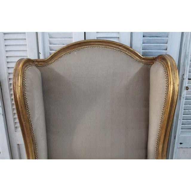 Louis Xv Style Wingback Bergères Chairs - a Pair For Sale In Atlanta - Image 6 of 11