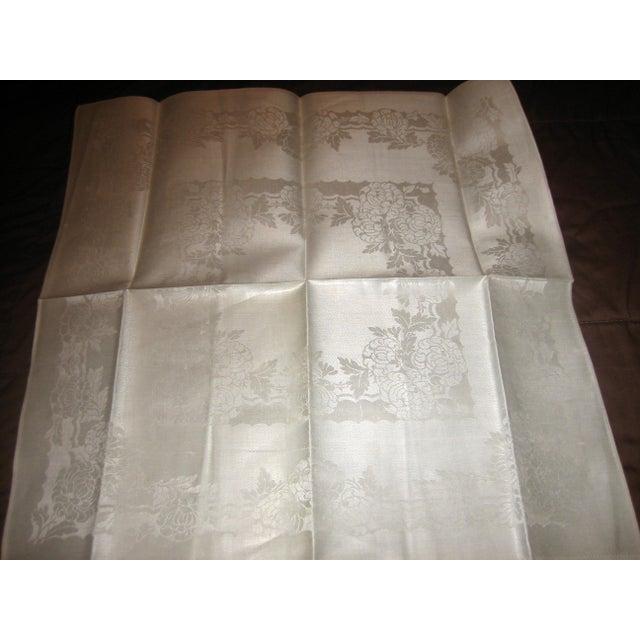 Pure Irish Linen Double-Damask Napkins - Set of 6 - Image 3 of 4