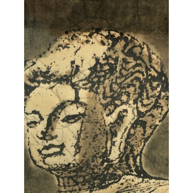 Unique batik painting of a Buddha. Perfect for the yogi/lifestyle guru space you've always dreamed of.