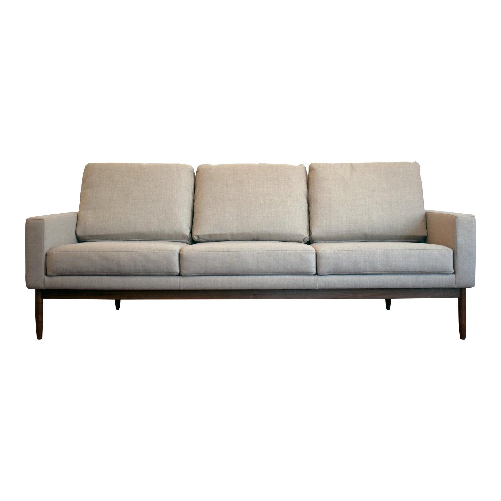 Brand new design within reach danish modern raleigh sofa chairish