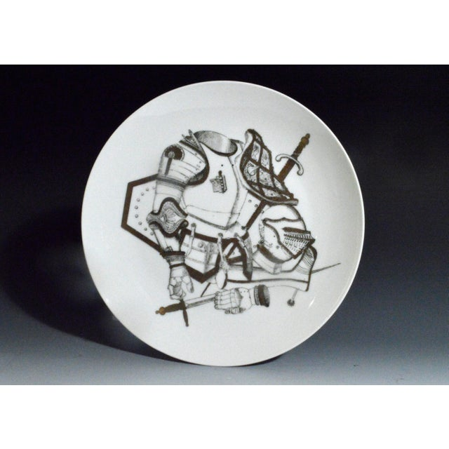 Piero Fornasetti Plate with Coats of Armour, the Armature Pattern - Image 2 of 3