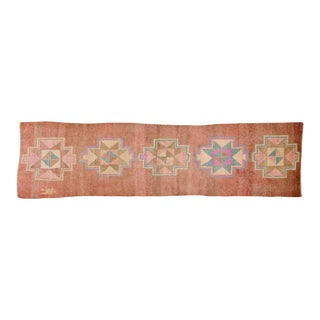 "Vintage Kurdish Wool Runner Rug - 3'2""x12'"